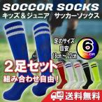 サッカーソックス 2足組セット ストッキング 靴下 キッズ ジュニア 子供用 目安サイズ19-24cm フットボール フットサル 組み合わせ自由 送料無料