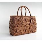 山ぶどう やまぶどう籠 山葡萄かごバッグ かごバック カゴ 籠 バッグ スリムバッグ みだれ花模様 大  横長(削皮) かぶせ・内布付