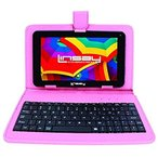 Linsay新しいf7X hdbpink Quad Core withピンクレザーケースデュアルカム8GB Android 4.4キットカット