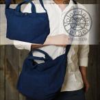 トートバッグ 藍染め 酒袋帆布 ショルダーベルト付き V.D.L.C vc9ai