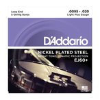 D'addario/バンジョー弦/EJ60+ Light Plus/Nickel 5-string【メール便OK】
