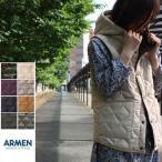 アーメン ARMEN ナイロン フリース リバーシブルフード付きキルティングベスト REVERSIBLE HOODED QUILTING VEST