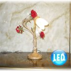 照明 照明器具 卓上照明 LED スタンド照明  新品 可愛い薔薇モチーフLED卓上照明 テーブル&ナイトスタンド おしゃれ 激安 アンティーク