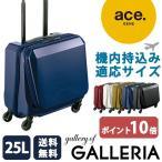 ace.GENE エースジーン スーツケース SQUARE ONE キャリーケース スクエアワン 機内持ち込み キャリーバッグ 25L 1〜2泊程度 小型 ハード エース 05641