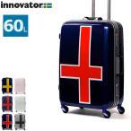 P19倍★6/19 23:59まで イノベーター スーツケース innovator 中型 フレーム 軽量 60L 4輪 キャリーバッグ INV58T