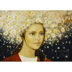 芝田米三「花の冠」油彩画