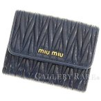 ミュウミュウ 財布 マテラッセ 二つ折り財布 5MH523 MIUMIU Wホック財布
