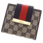 グッチ 財布 GGキャンバス ウェビングライン 二つ折り財布 185931 GUCCI 財布 コンパクト財布