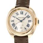カルティエ クレ ドゥ カルティエ デイト 18Kピンクゴールド WGCL0010 Cartier 腕時計 レディース シルバー文字盤