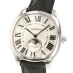 カルティエ ドライブ ドゥ カルティエ ムーンフェイズ WSNM0008 Cartier 腕時計 ウォッチ シルバー文字盤 ローマ数字