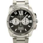 カルティエ カリブル ドゥ カルティエ クロノグラフ W7100061 Caritier 腕時計 黒文字盤