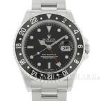 ロレックス GMTマスター2 デイト 黒黒ベゼル A番 16710 ROLEX 腕時計 ウォッチ 黒文字盤