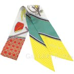 【サマーセール】エルメス スカーフ ツイリー シルクツイル 折畳み式幌の馬車 Les Voitures a Transformation HERMES