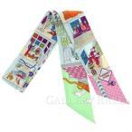 ショッピングスカーフ エルメス スカーフ ツイリー シルクツイル メゾン・デ・カレ La Maison des Carres HERMES シルクスカーフ