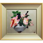 小倉遊亀 『椿など』 手摺木版画