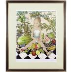 藤田嗣治 『少女と果実』 リトグラフ(石版画)