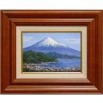 山田紀義 『日本平の富士』 油絵・油彩画 SM(サムホール)