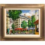 斉藤 要 『パリのカフェ』 油絵・油彩画 F6(6号)