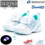 キッズ 女の子 子供 ムーンスター moonstar スニーカー サンリオ Sanrio 光る 靴 運動靴 ハローキティ シナモロール マジックテープ ベルクロ SAN C015