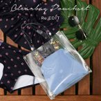 ショッピングカジュアルトート バッグ クリア PVC トートバッグ カジュアル ビーチ リゾート プール 海 レディース