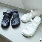 トングサンダル レディース サンダル ウエッジソール 厚底 4cmヒール ヴィーガンレザー エコレザー クッションソール シューズ 靴 2021春
