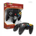 【ブラック】nintendo64コントローラー ゲームコントローラー N64 Cirka Controller【サードパーティ社製】