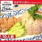 カオマンガイ(コムガー・ナシアヤム) 10人前  本場タイ料理 ジャスミンライス100% 国産鶏使用 タイ式海南鶏飯 タイ風チキンライス タイ米 (冷凍・レトルト)