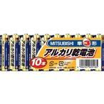 三菱電機(株)  三菱電機 アルカリ乾電池単3形10本パック LR6N10S  1PK(10本入)【341-7069】