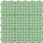 ワタナベ工業(株)  ワタナベ タイル システムスクエアー 30×30cm グリーン SQ-301  1枚【400-7794】