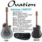 【送料無料】Ovation Adamas I 2087GT-8 Reverse Blue Burst / オベーションが誇るハイエンドモデル、アダマス【国内正規品】