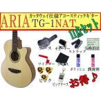 ARIA(アリア) アコースティックギター「TG-1 N:ナチュラル11点セット」カッタウェイモデル【レビューでハーモニカをもらおう♪】