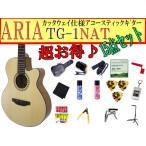 ARIA(アリア) アコースティックギター「TG-1 N:ナチュラル15点セット」カッタウェイモデル【レビューでハーモニカをもらおう♪】