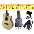 ARIA(アリア) アコースティックギター「TG-1 N:ナチュラル4点セット」カッタウェイモデル【レビューでハーモニカをもらおう♪】