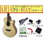 ARIA(アリア) アコースティックギター「TG-1 N:ナチュラル7点セット」カッタウェイモデル【レビューでハーモニカをもらおう♪】