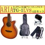 ARIA(アリア) アコースティックギター「TG-1 LVS:ライトヴィンテージサンバースト4点セット」【レビューでハーモニカをもらおう♪】