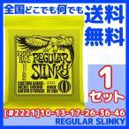 【送料無料】ERNIE BALL(アーニーボール) #2221×1セット REGULAR SLINKY[10-46]/ 定番エレキギター弦(セット弦)/ スリンキーシリーズ・レギュラースリンキー