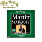 【送料無料】MARTIN(マーチン弦) 「M2600×1セット」(12弦ギター用)エクストラライト・ゲージ  Marquis 12 String 92/8 Phosphor Bronze Extra Light/M-2600