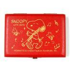 【送料無料】SNOOPY WITH MUSIC スヌーピーバンドコレクション リードケース オーボエ用リードケース 5本入 赤 SOB-05R