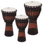TOCA/トカ Toca Products Djembes TSSDJ-LB Street Series Carved Djembe-Brown/Black-Large (appx 12inch) ジャンベ 12インチ