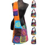 エスニックショルダーバッグピースマーク刺繍エスニック雑貨エスニックアジアンファッション