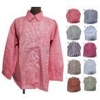 エスニックシャツユニセックスチェック柄エスニック衣料エスニックアジアンファッション