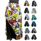 エスニックパンツ2枚重ねスカート風パンツエスニック衣料エスニックアジアンファッション