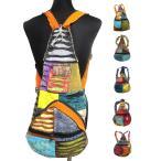 ダメージ風2ウエイリュックサックエスニック衣料雑貨エスニックアジアンファッション
