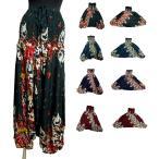 花柄エスニックサルエルパンツ2WEYサロペットエスニック衣料エスニックアジアンファッション