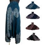 ペイズリー柄エスニックサルエルパンツ2WEYサロペットエスニック衣料エスニックアジアンファッション