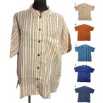 Lサイズエスニックシャツメンズクルタエスニック衣料エスニックアジアンファッション
