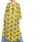エスニックワンピース長袖フラワーレディースエスニックファッションアジアンファッションかわいいおしゃれヒッピーボタニカル