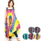 エスニックワンピースタイダイレディース5カラーエスニックファッションアジアンファッションキャミソールキャミワンピかわいいゆったり派手