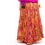 エスニックスカートタッセル付ロングレディースエスニックファッションアジアンファッションマキシロングフレアおしゃれカラフルゴージャス