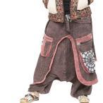 エスニックサルエルパンツメンズレディースエスニックパンツエスニックファッションアジアンファッションダンスゆったり